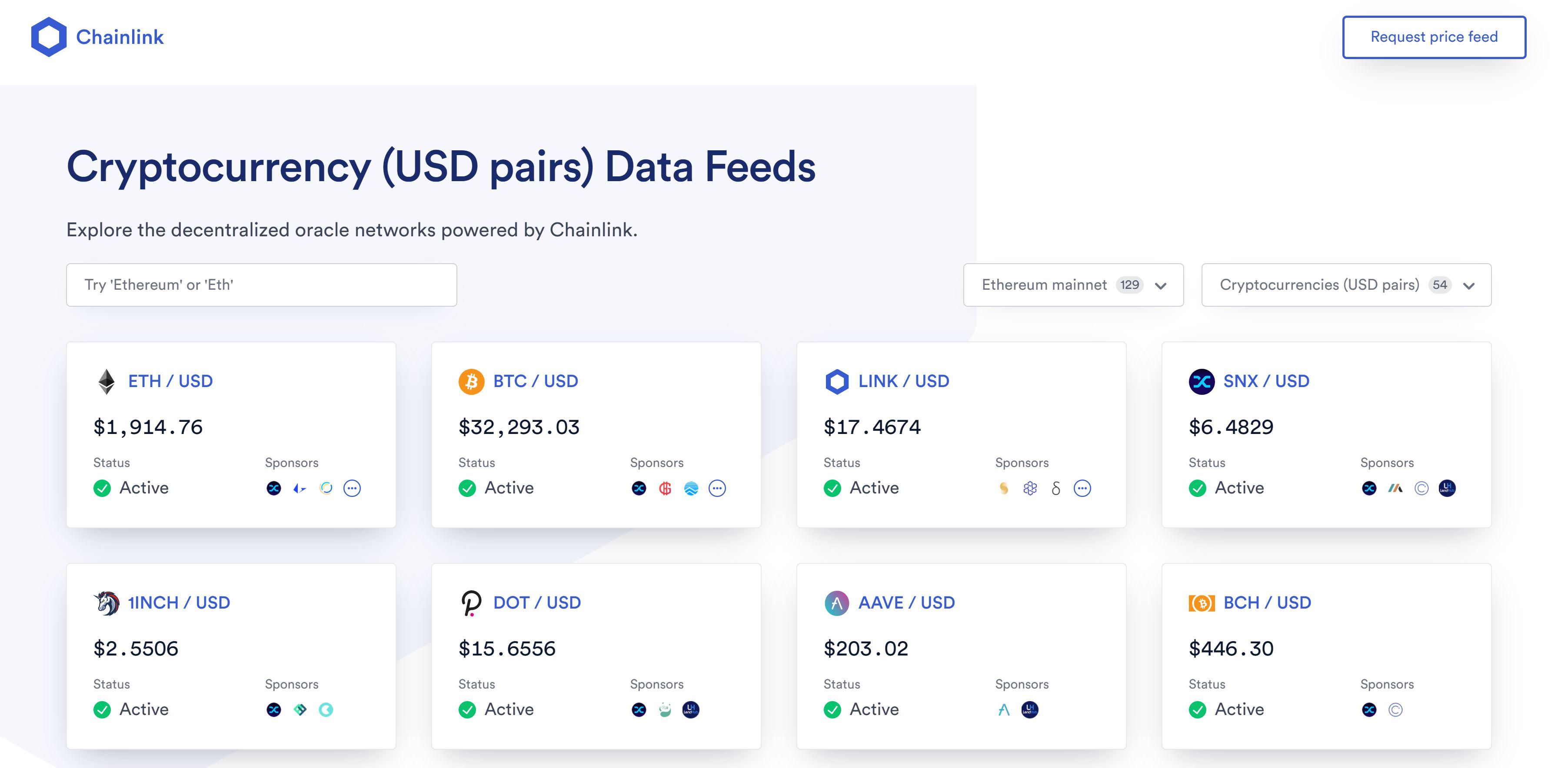 Comercio de criptomonedas ChainLink
