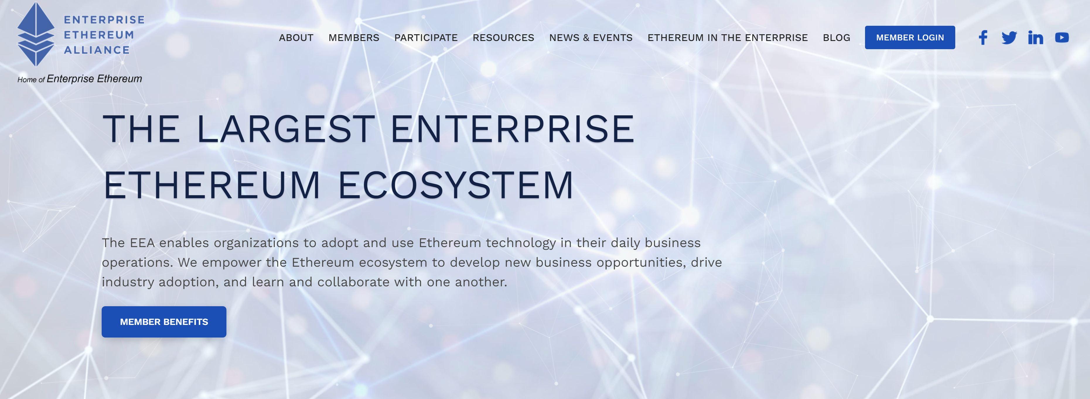 Enterprise Ethereum Alliance-website