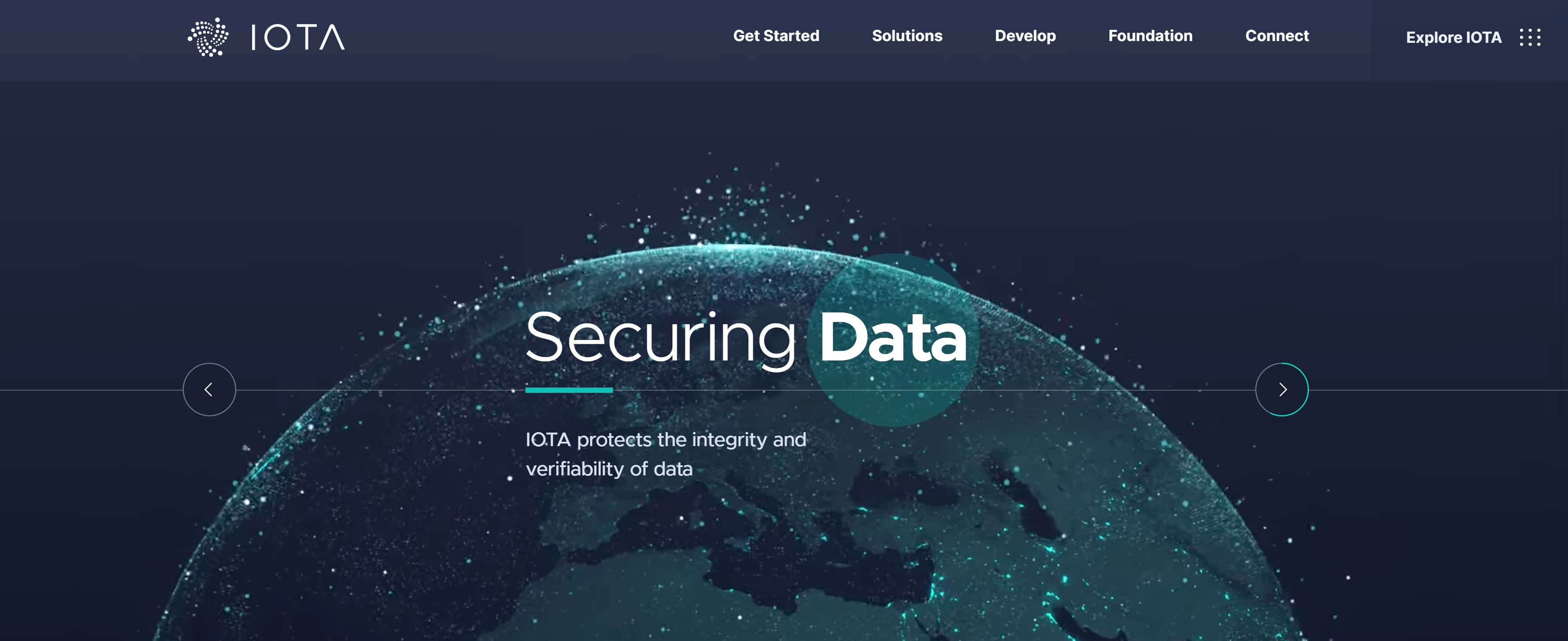 IOTA Webseite