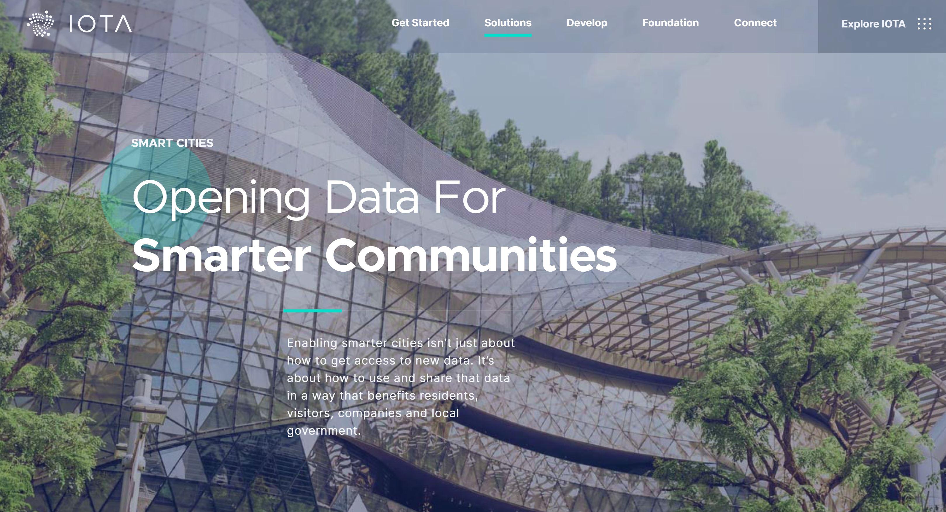 IOTA Smart Cities-overzicht