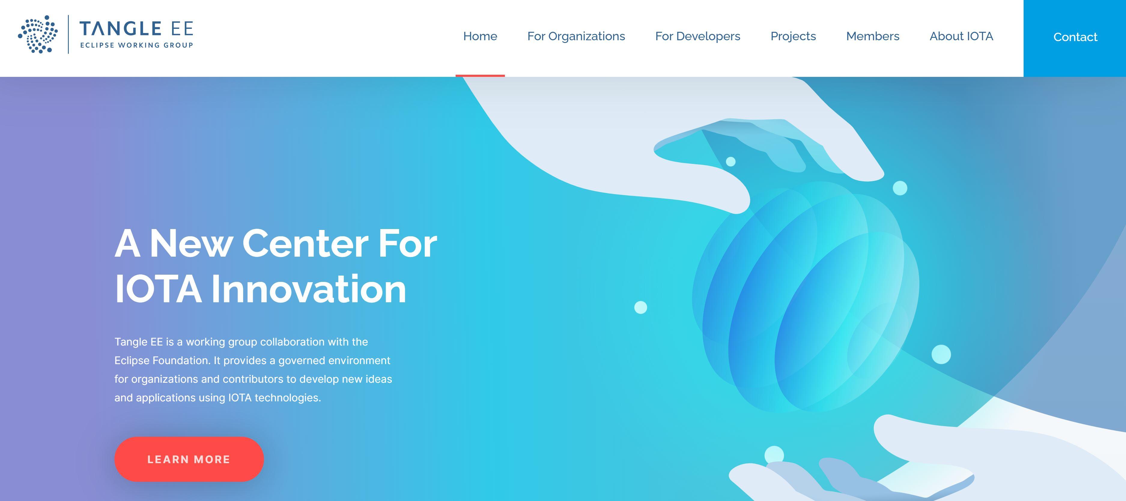 IOTA Tangle Webseite
