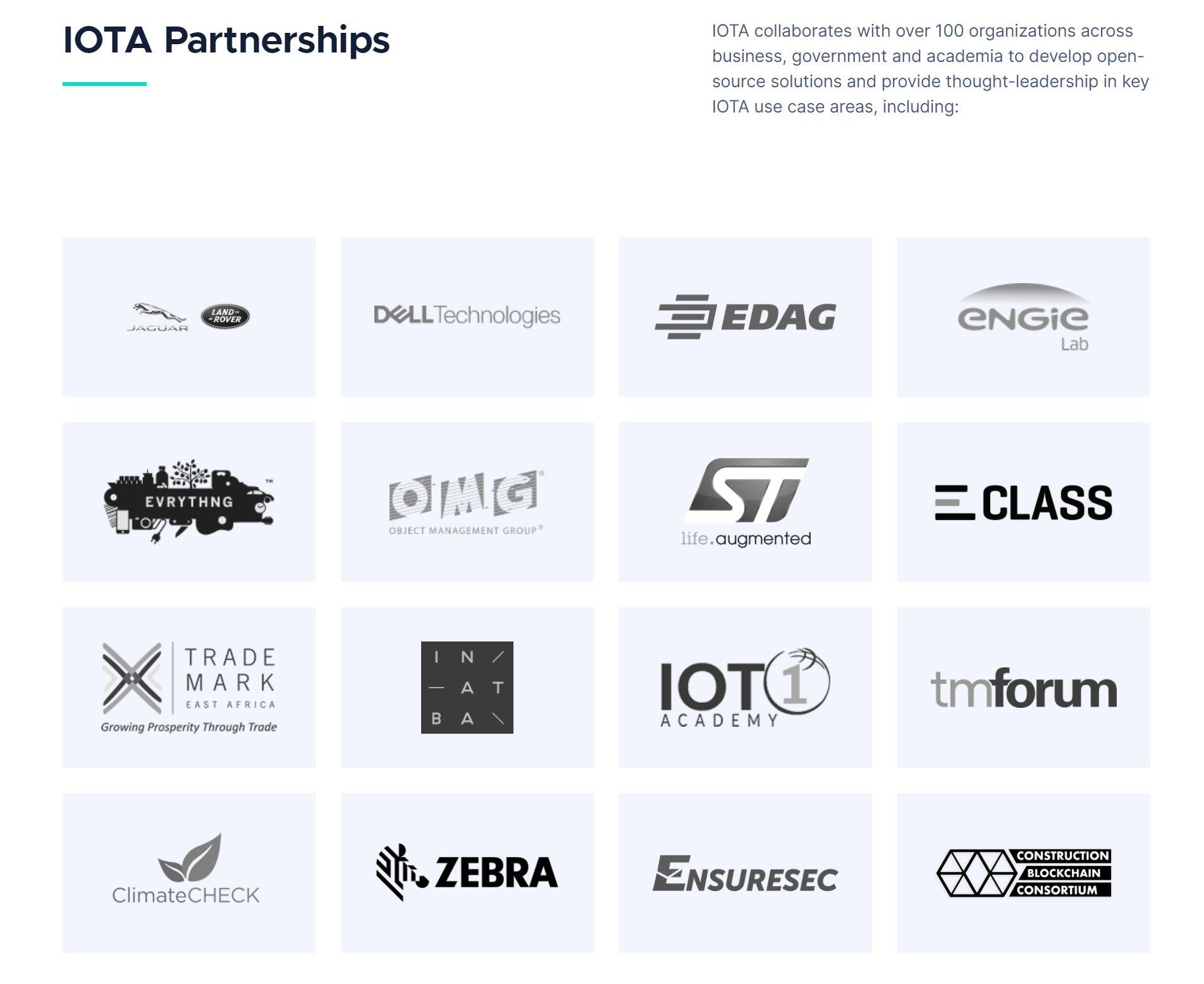 IOTA-partnerschappen