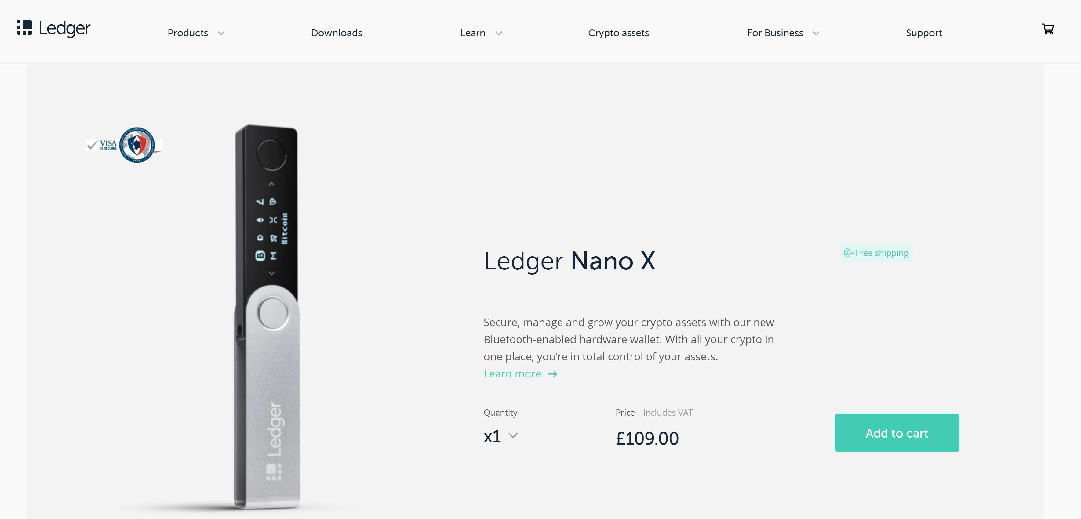 Ledger Nano X im Online Shop