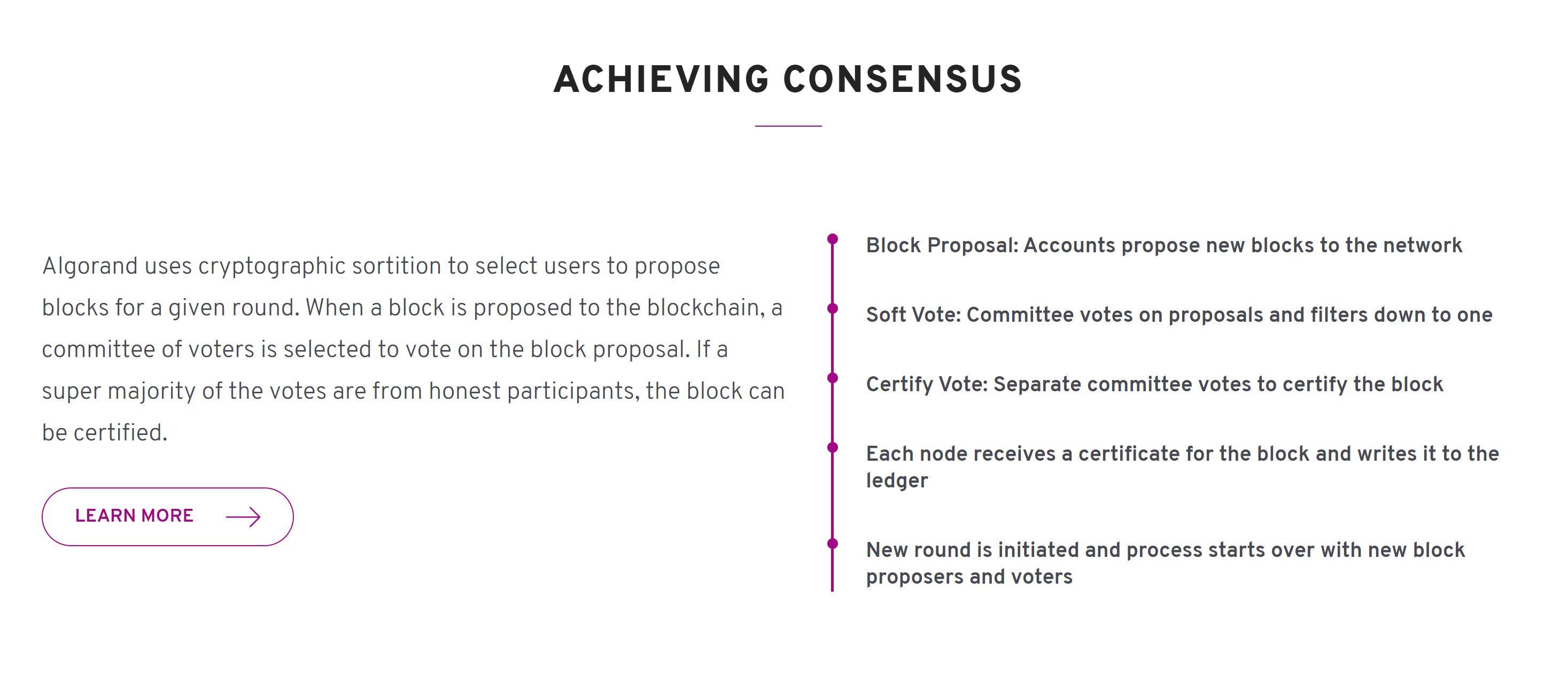 Algo y mecanismo de consenso