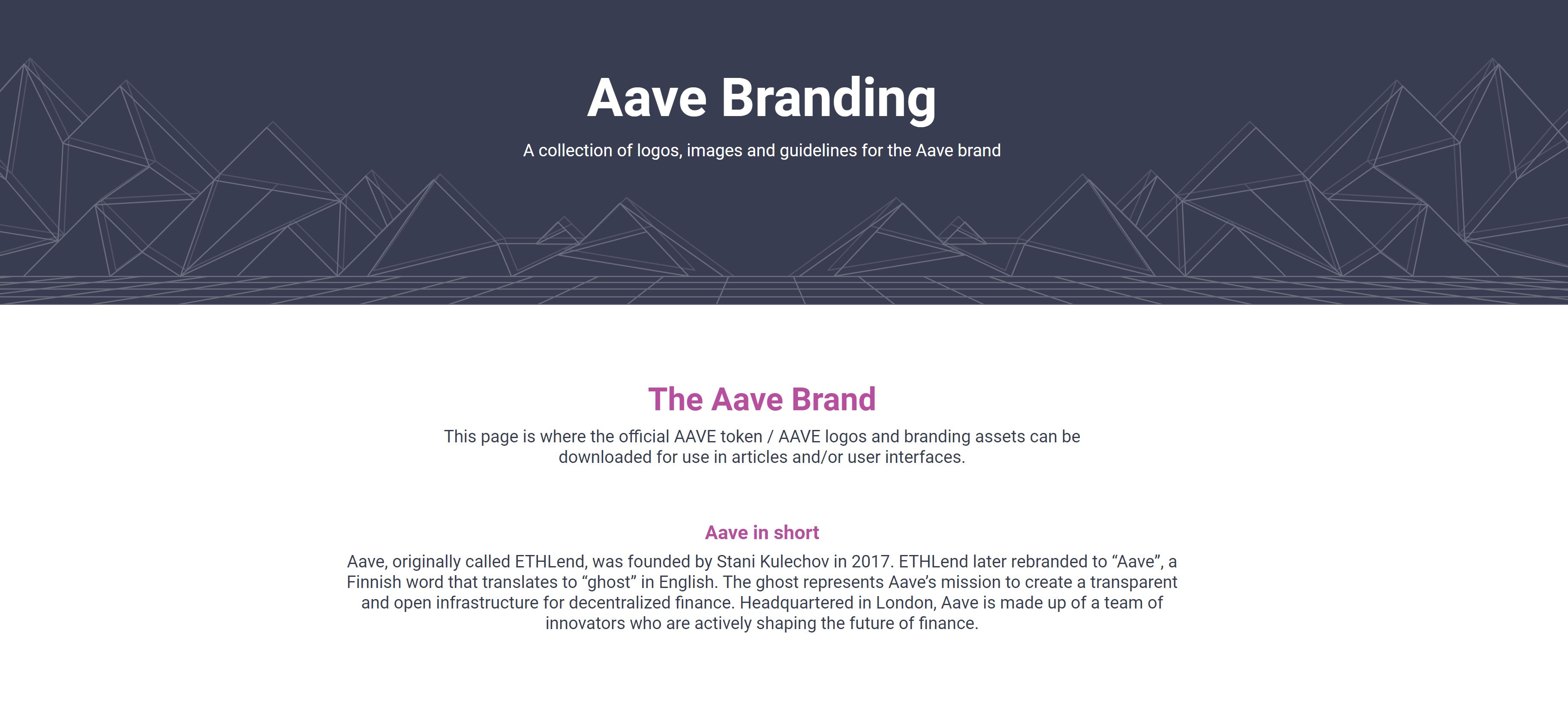 Aave branding overview