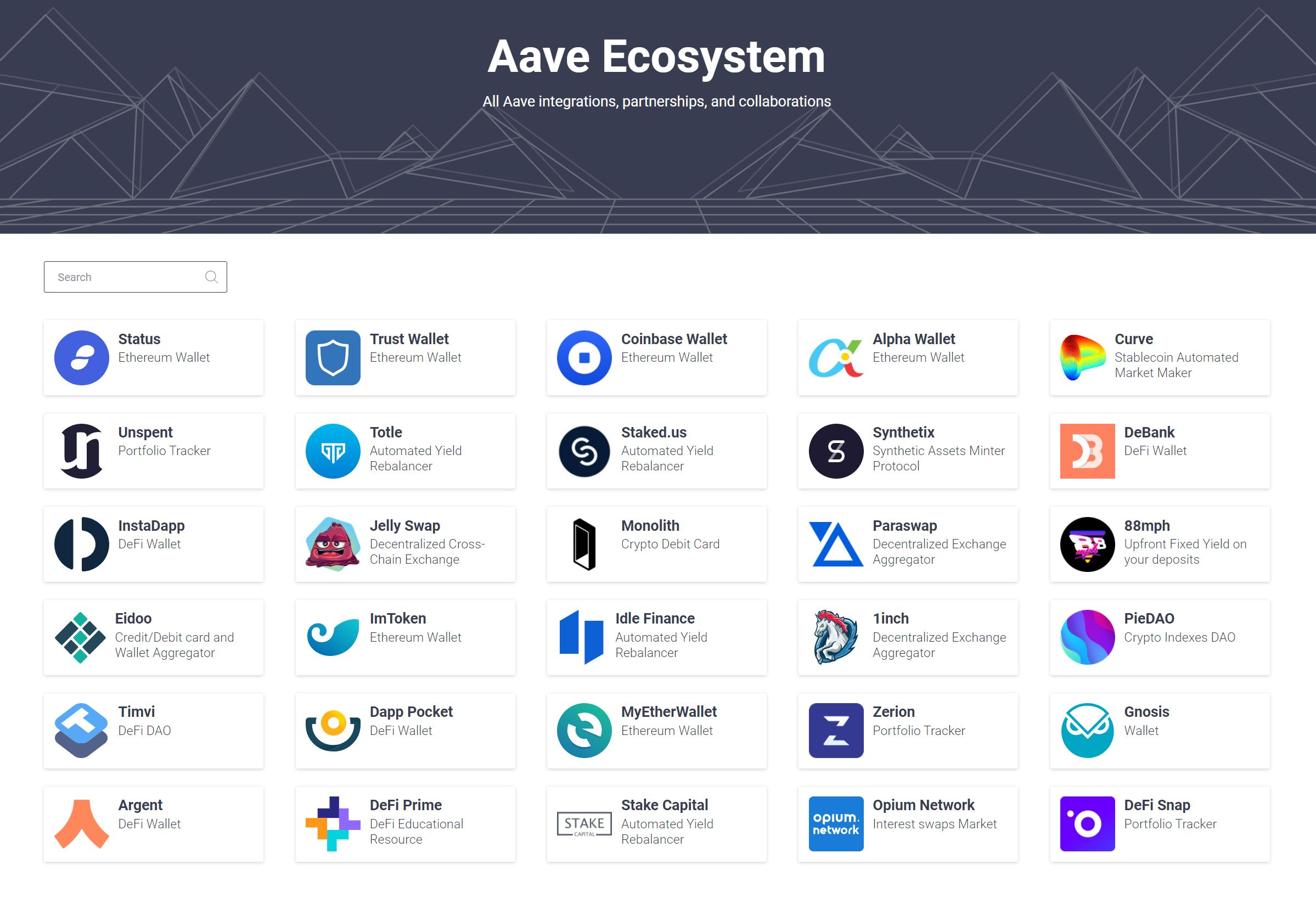 Aave ecosystem overview