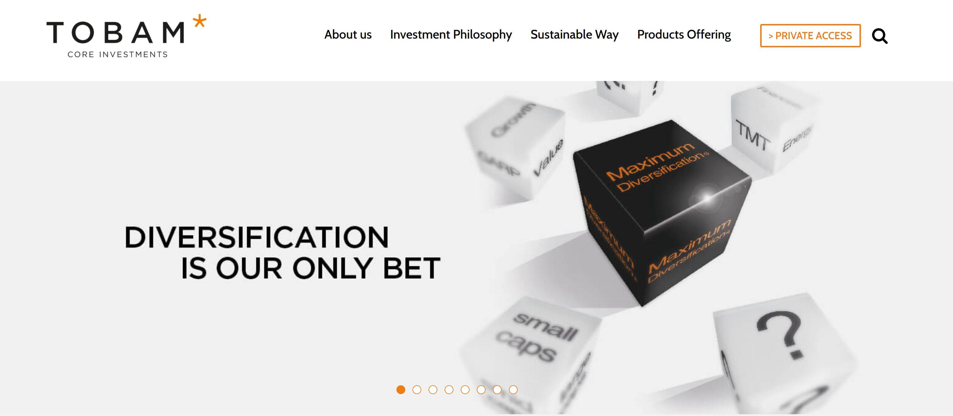 Tobam Webseite