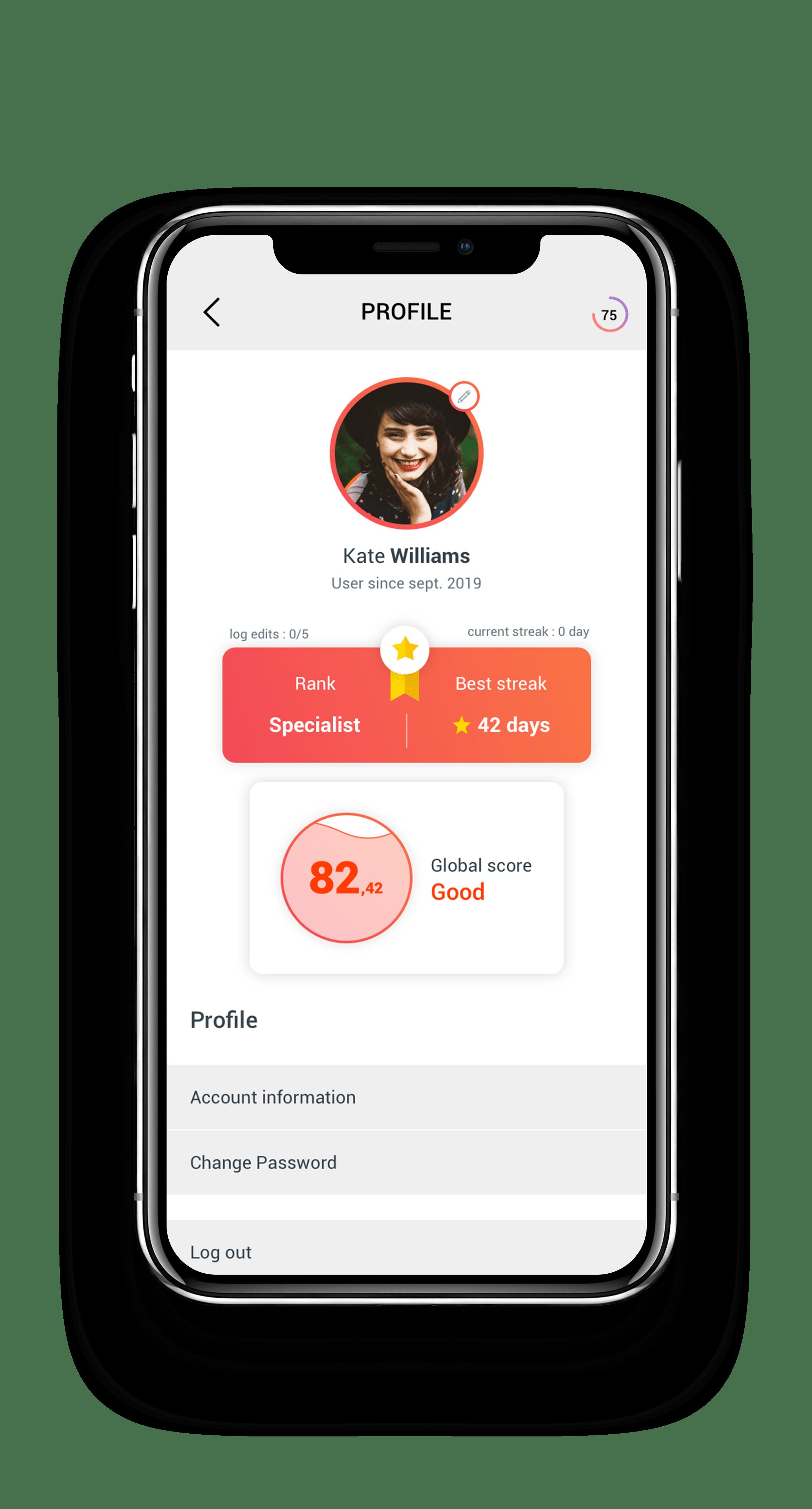 Circular App profile
