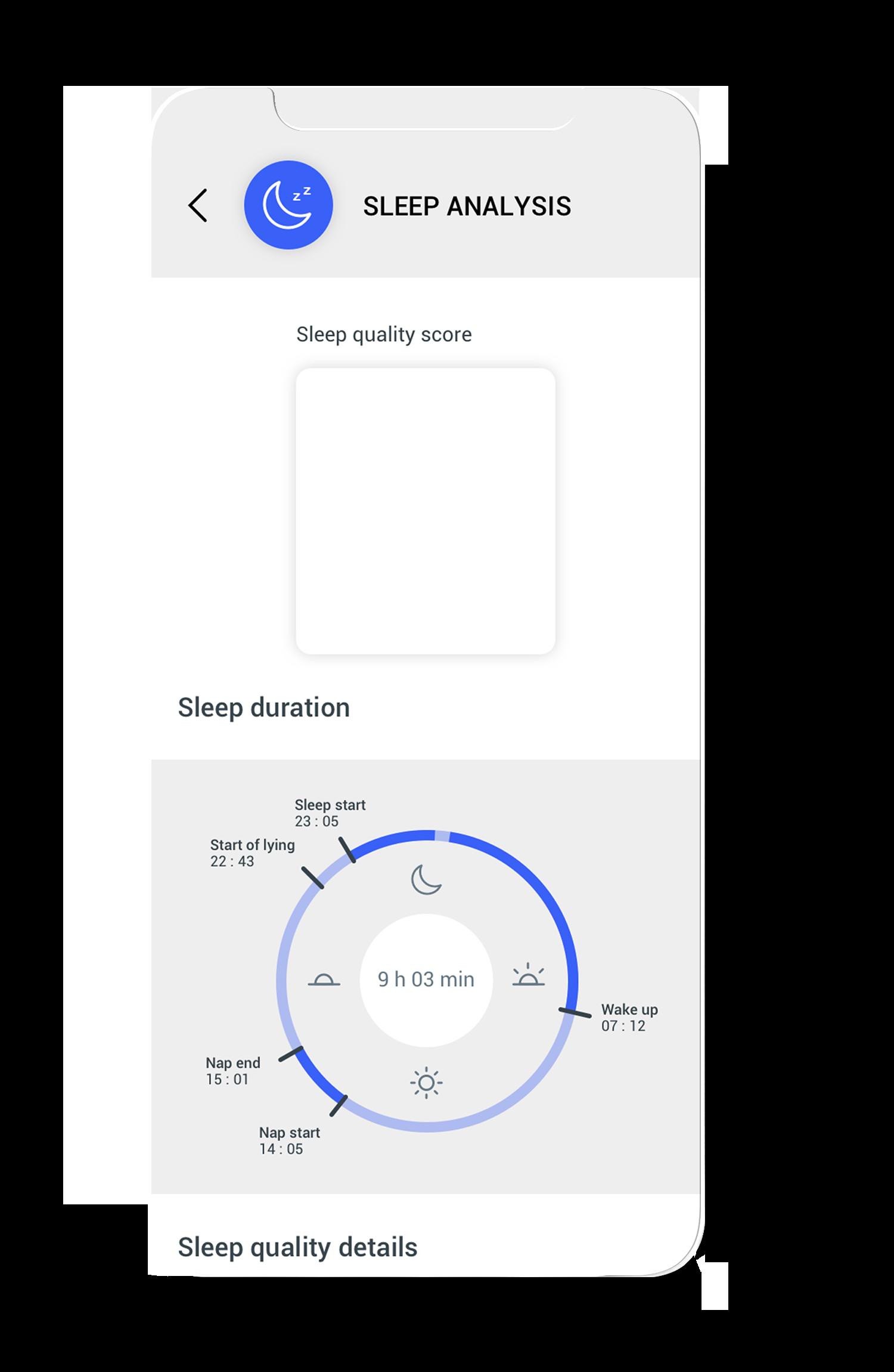 Sleep score on the Circular app