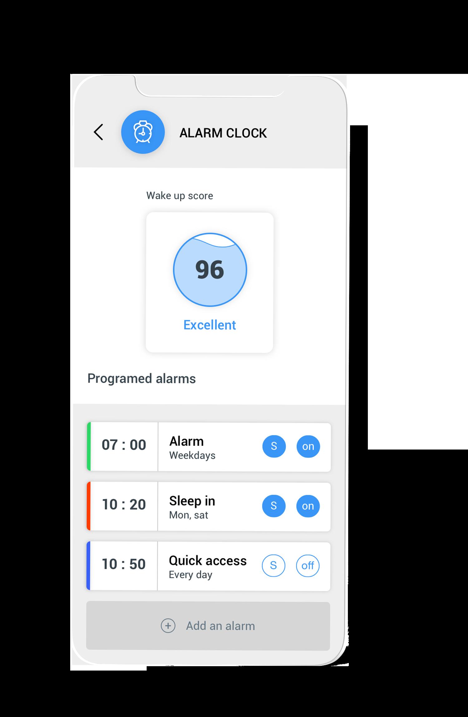 Wake up score on the Circular app