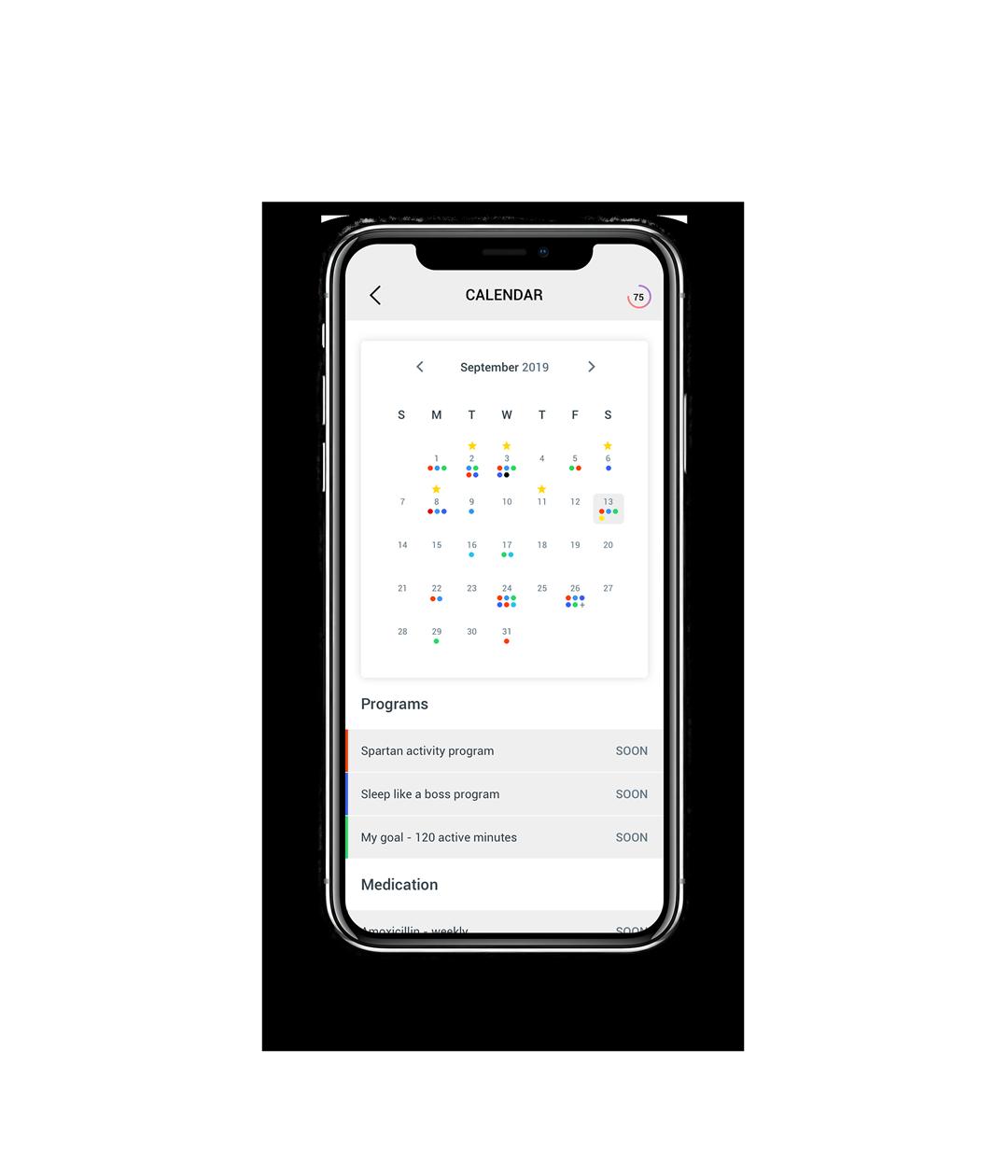 Circular App Calendar
