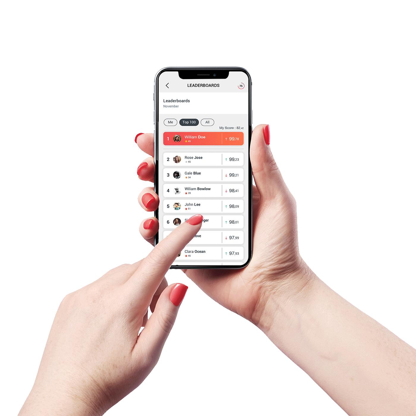 Hand Holding Circular App