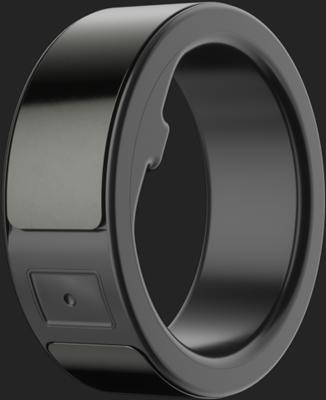 Black Fit Circular Ring