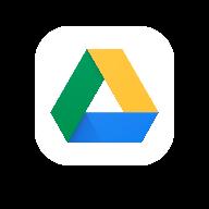 A logo image of Google Drive