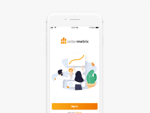 An Image of the Case Study for Seller Metrix Mobile App