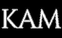 kam logo blanc