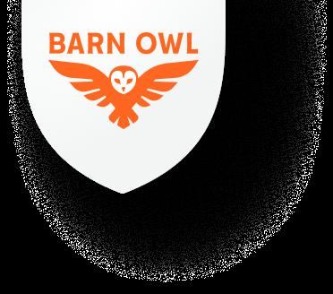Barn Owl Badge Logo