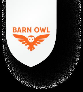 Barn Owl Badge Mobile