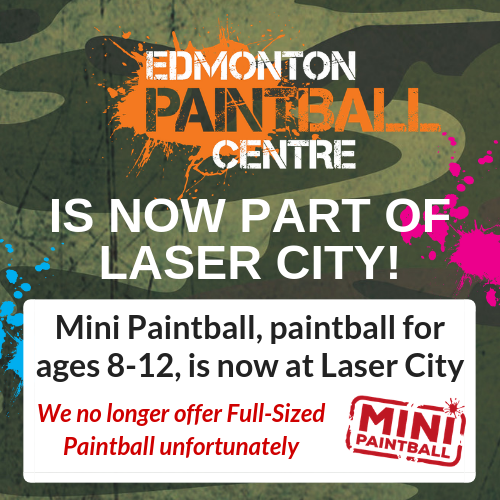 Edmonton Paintball Centre Mini Paintball Birthday Parties At Laser City