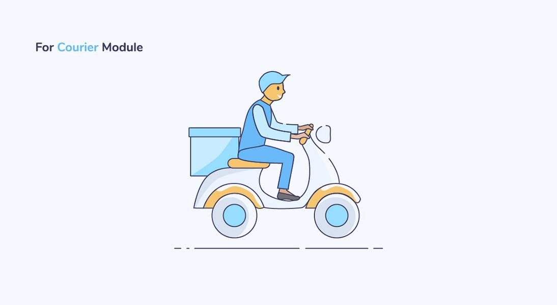 Courier module in app