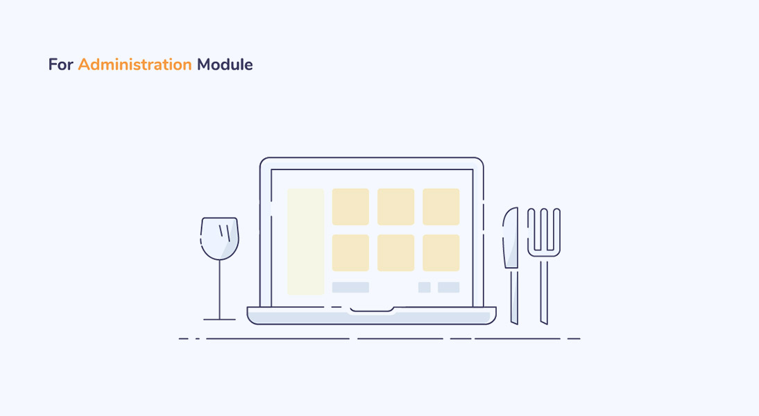 Administration module in food delivery app