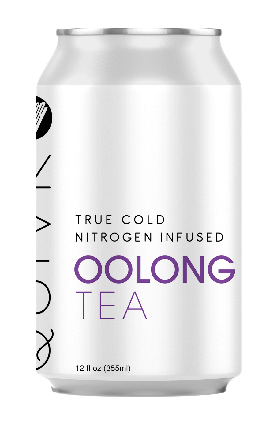 A Quivr Oolong Tea can showing the flavor name