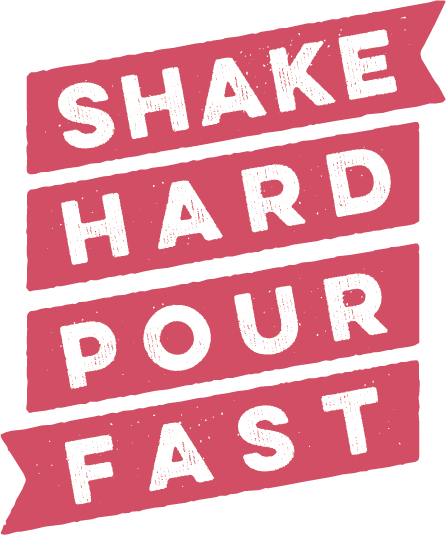 The Shake Hard Pour Fast brand icon in pink