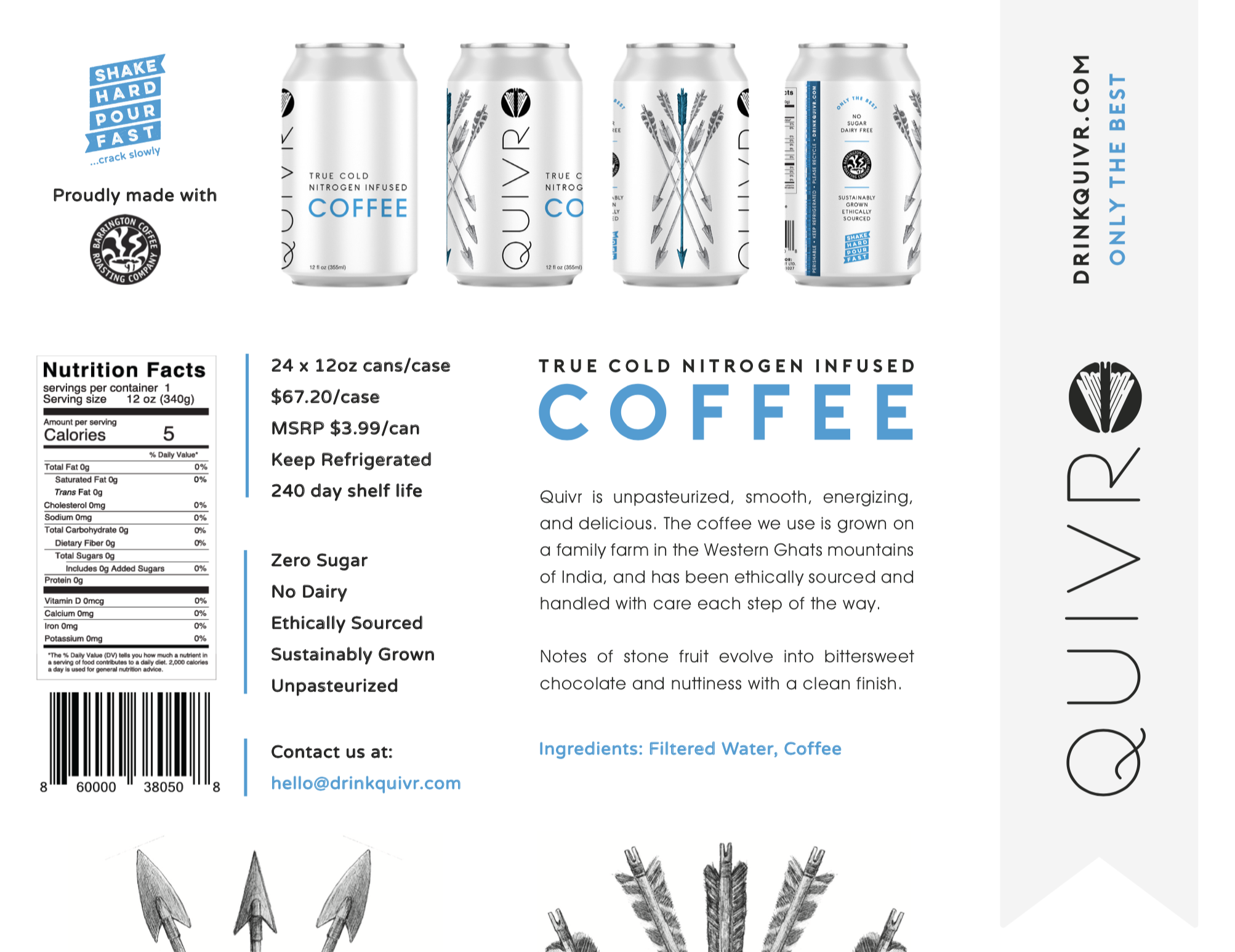 Thumbnail of the Quivr Coffee One-pager