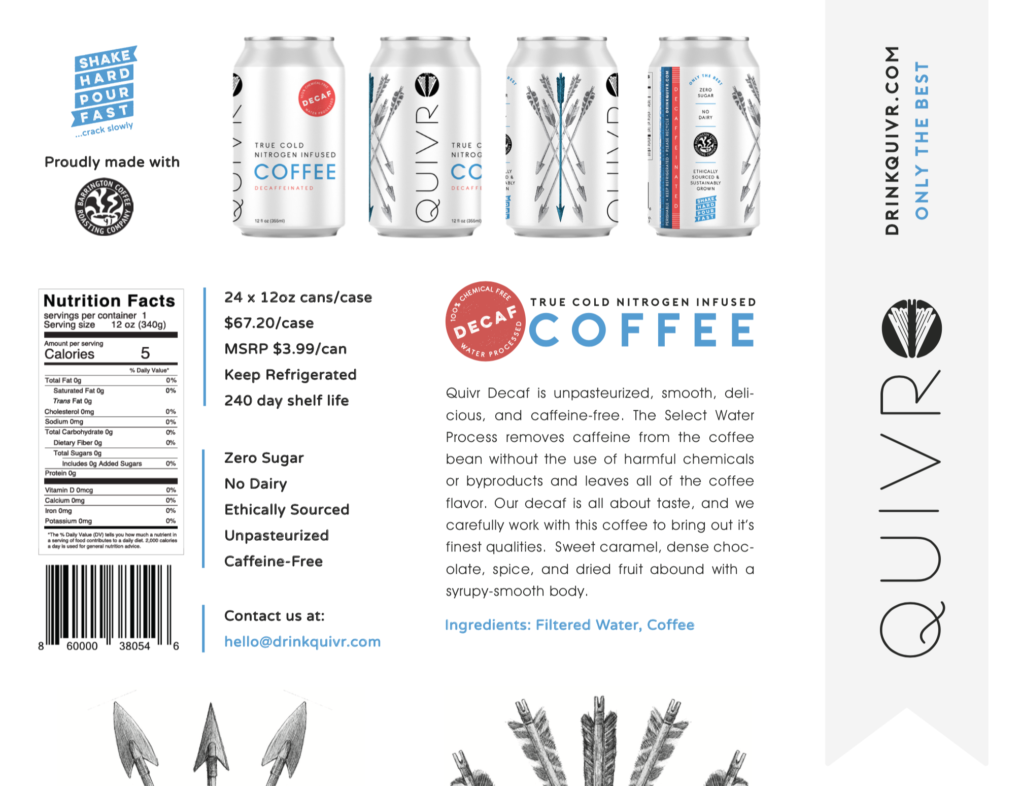 Thumbnail of the Quivr Decaf Coffee One-pager