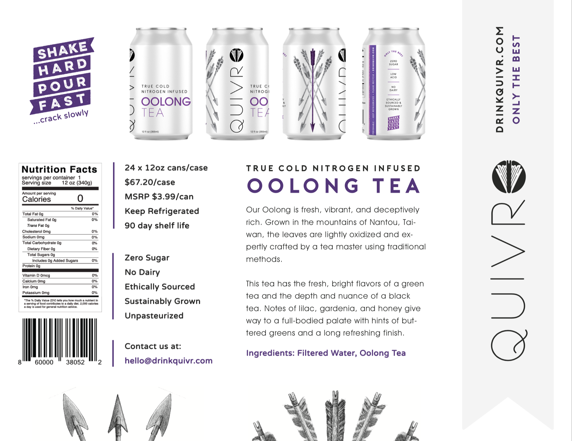 Thumbnail of the Quivr Oolong Tea One-pager