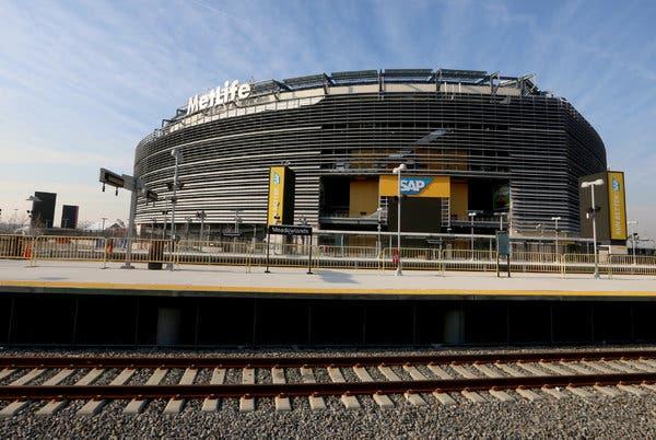 MetLife Stadium from NJ Transit station