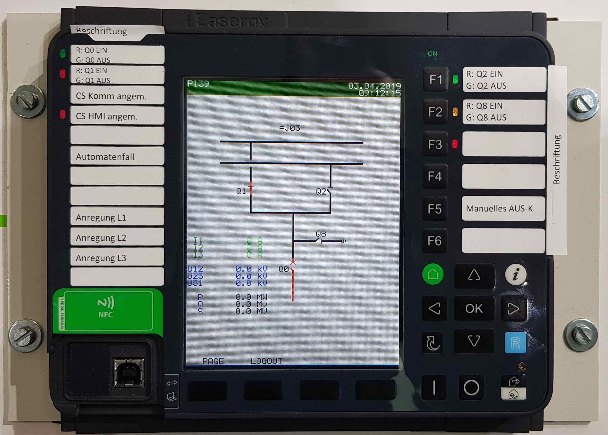 P139 schneider electrics neues display new front neu