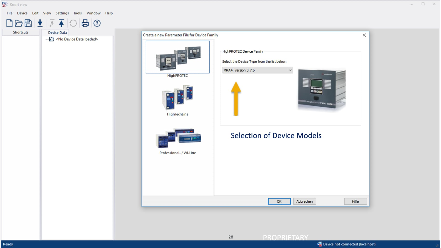 Smartview, Smart view, Smart view 4.8, Woodward, SEG, HighPROTEC, Protection Relay