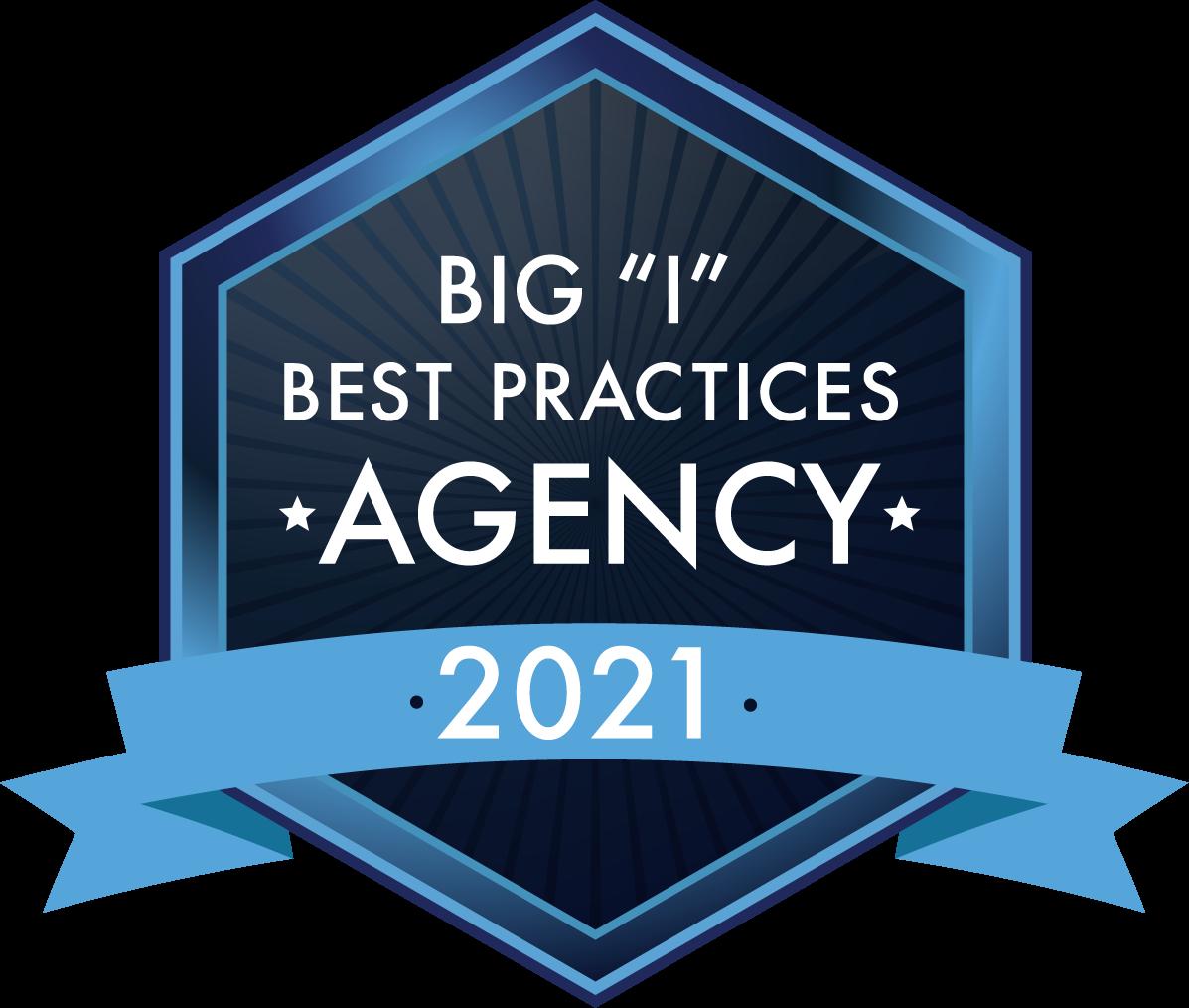 "Big ""I"" Best Practices Agency logo 2020"