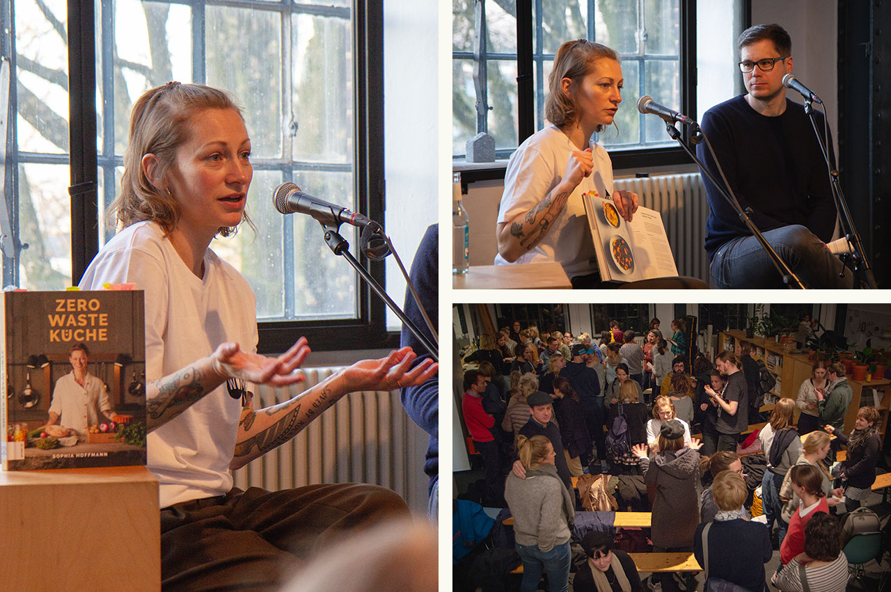 "Impressions from the book presentation ""Zero Waste Küche"" with Sophia Hoffmann."