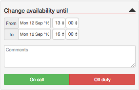 Change availability fast