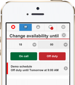 Change availability from the app for firefighters