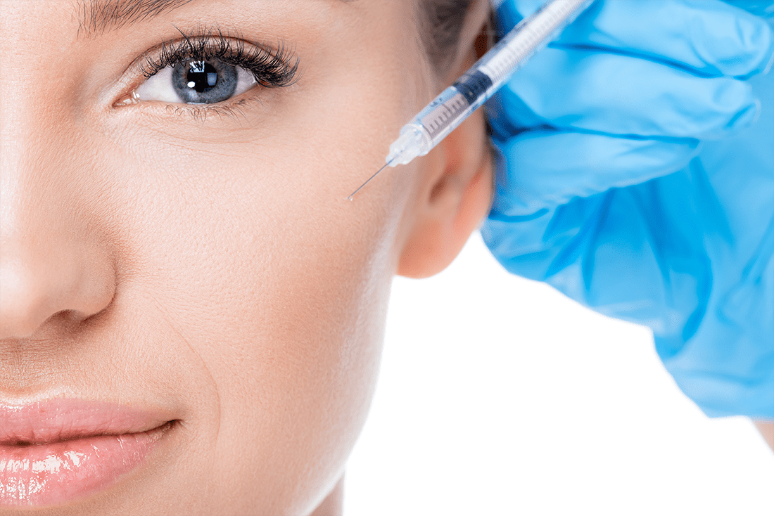 reduced wrinkles with Botox® / Dysport ® / Xeomin®