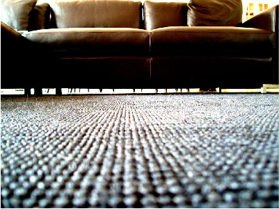 Living couch and carpet