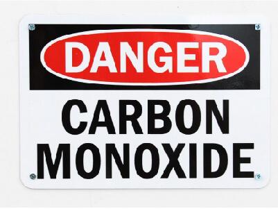 Danger sign for carbon monoxide
