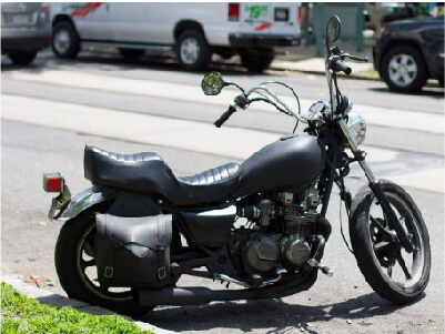 Motorcycle parked on the curbside