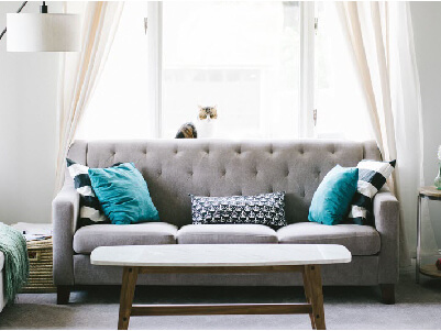 Couch in living room