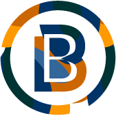 The Boldbeat Textiles logo. The letter B inside of a circle.