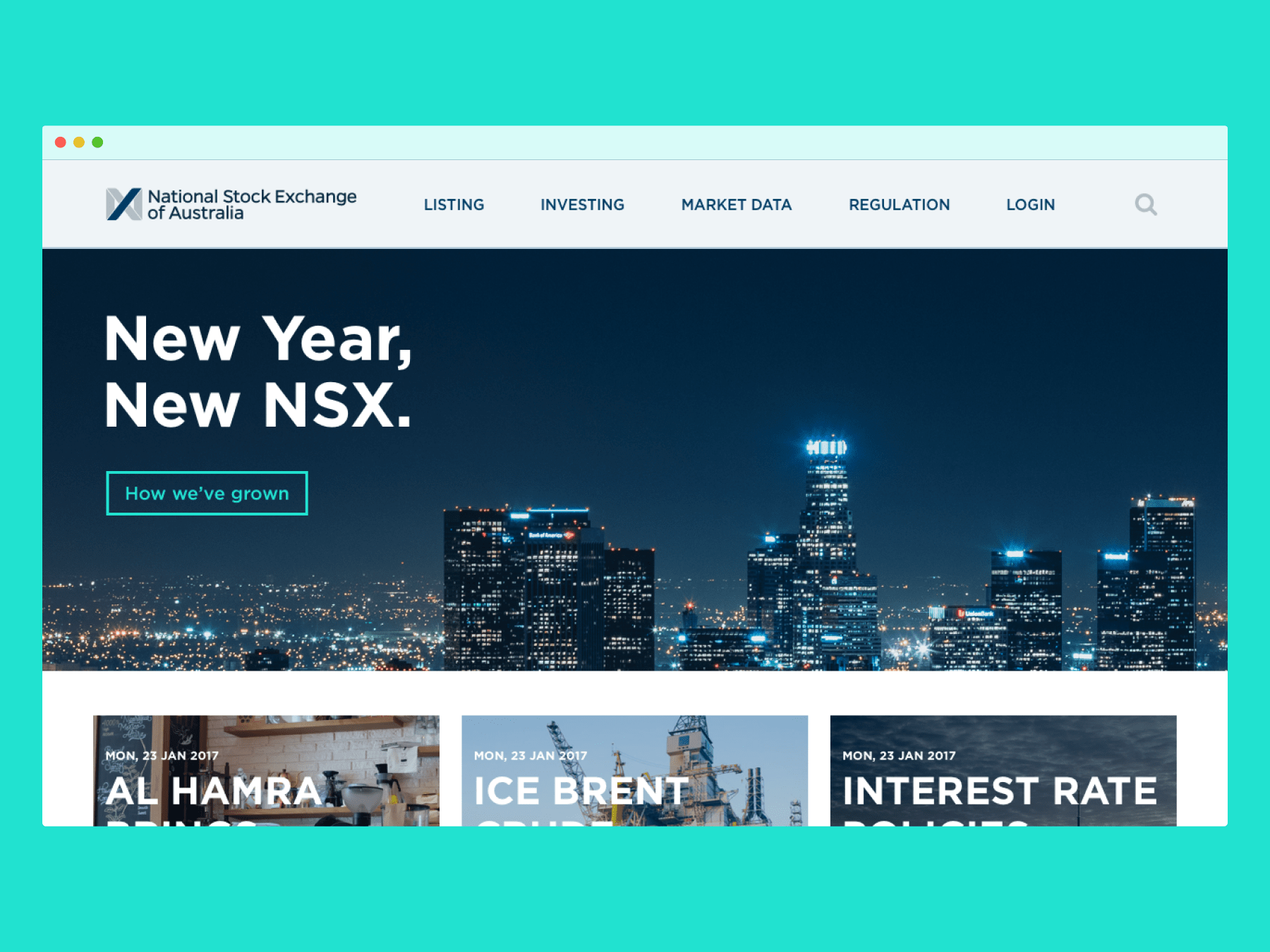 NSX – Homepage