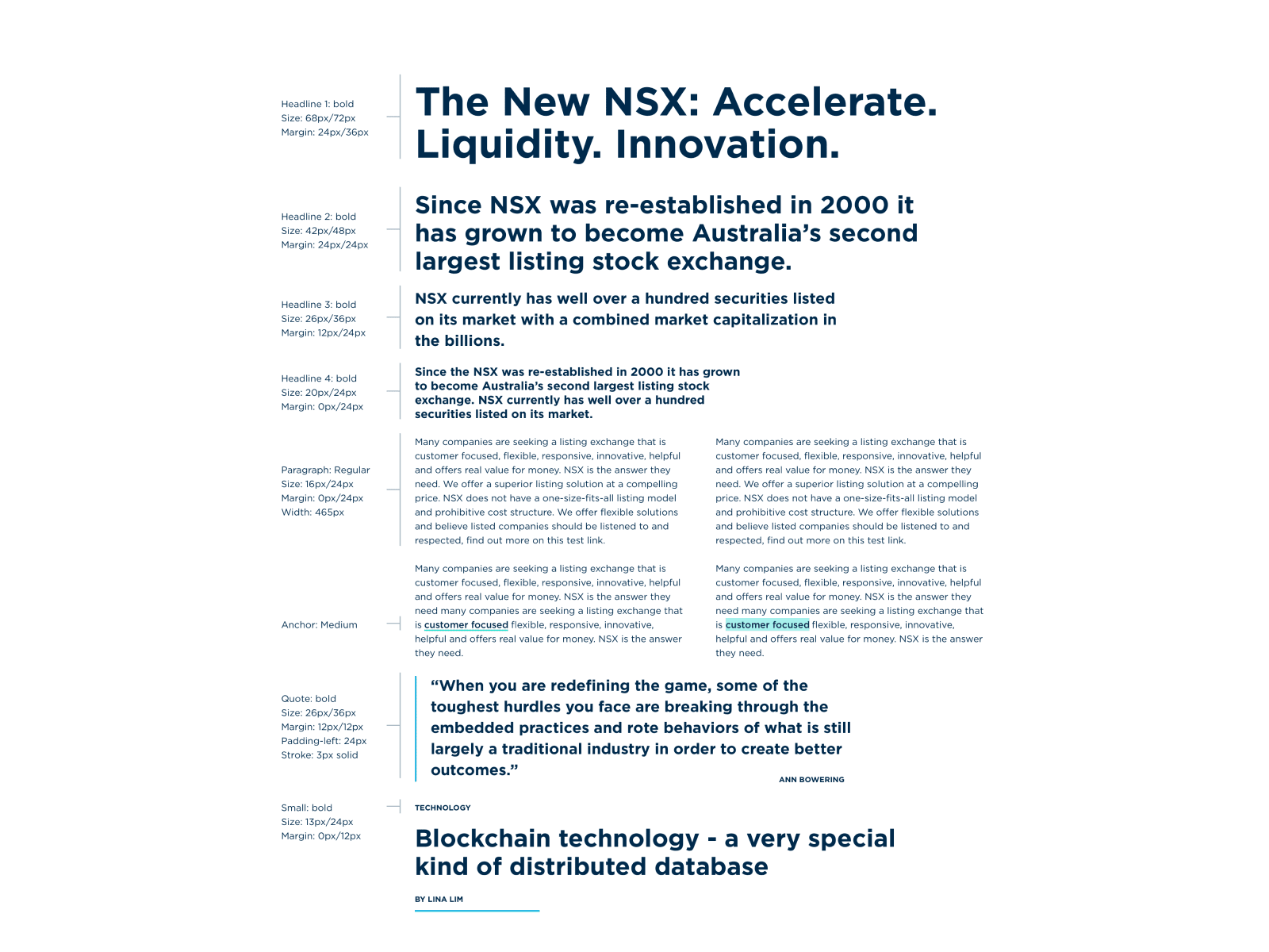 NSX – typography grid
