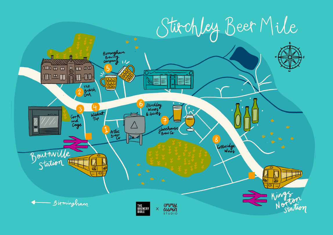 Stirchley Beer Mile Map - The Brewery Bible