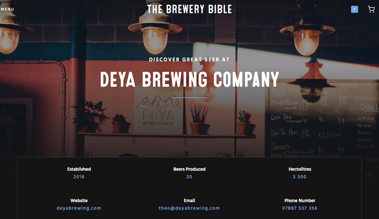 The Brewery Bible Deya Brewing company business membership