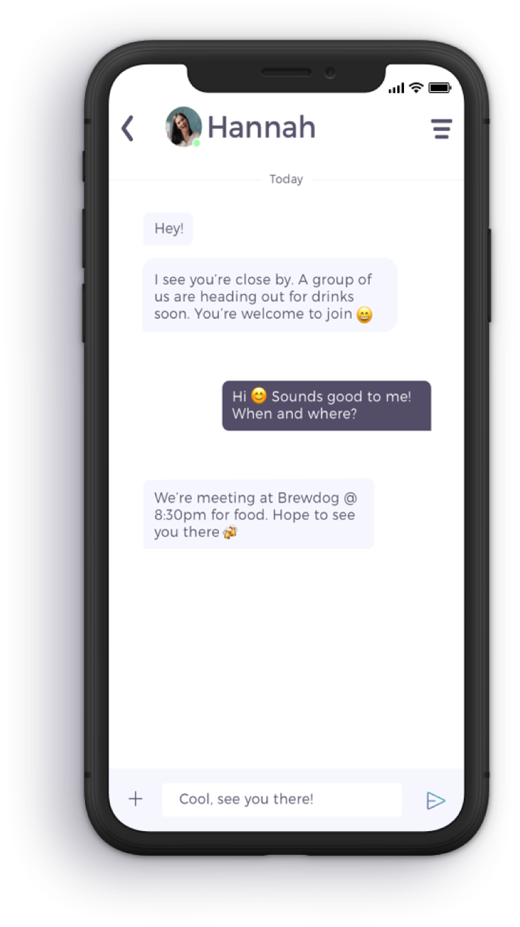 Chat Screen Travelbuddy App