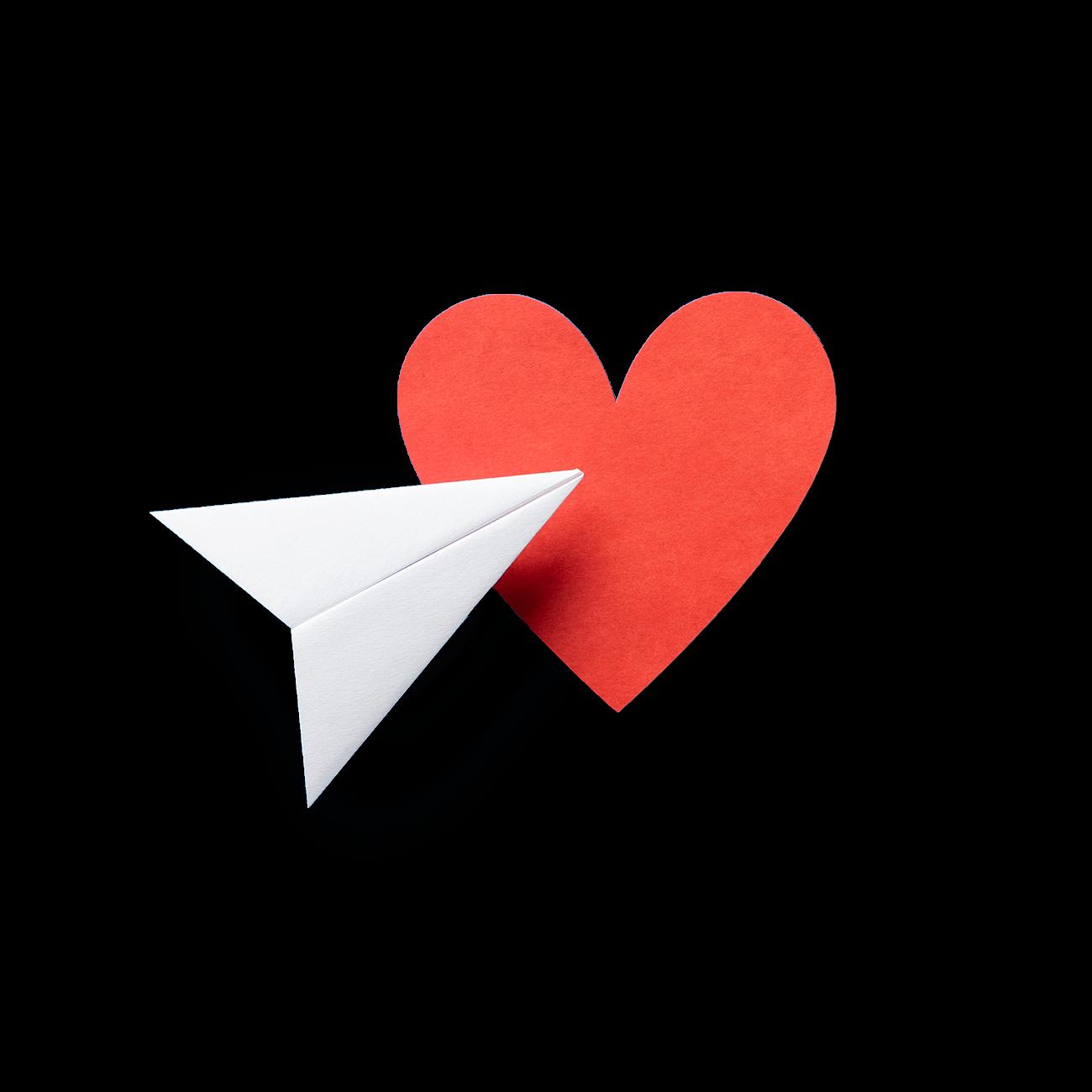 immagine cuore aereo di carta
