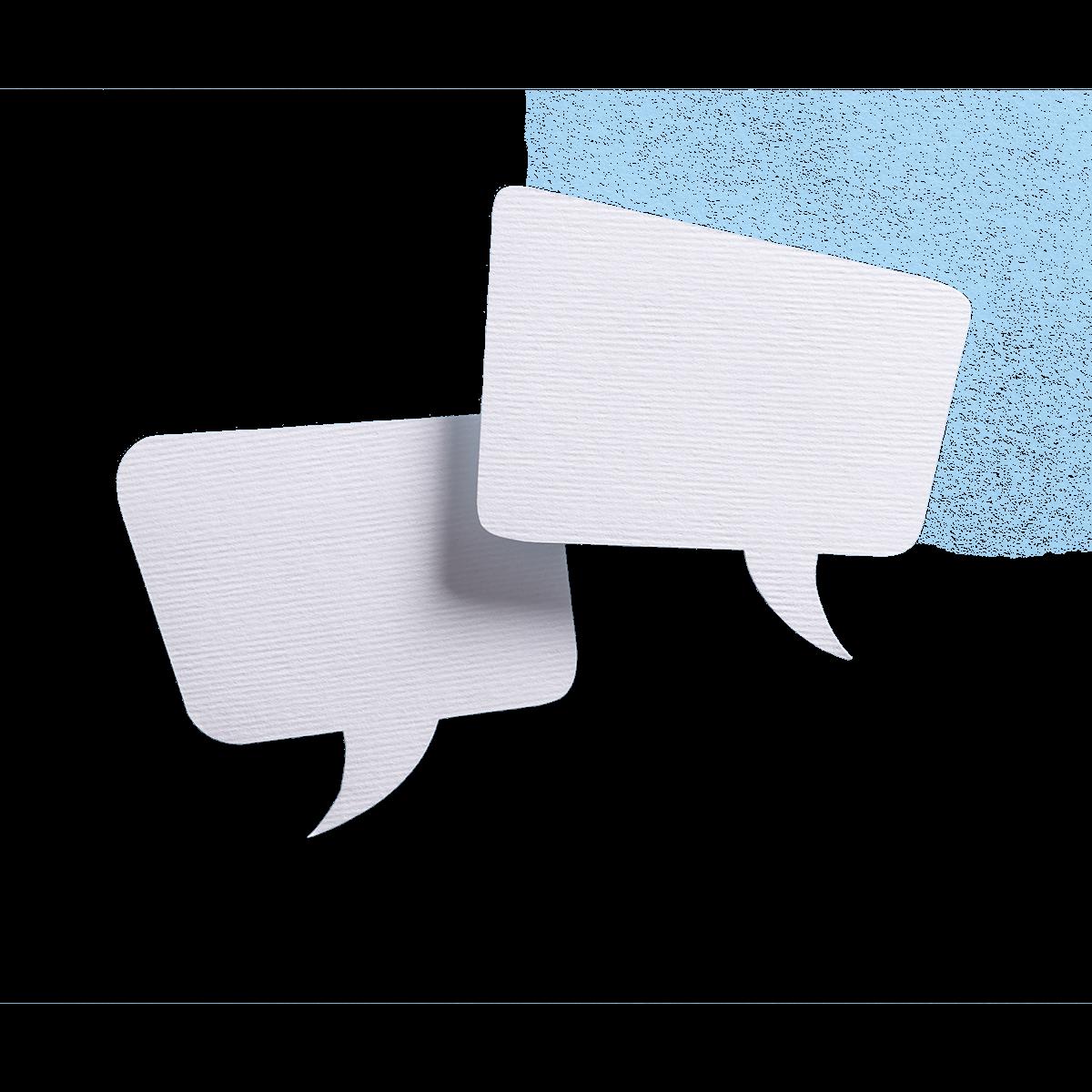 immagine nuvole dialogo quadrate